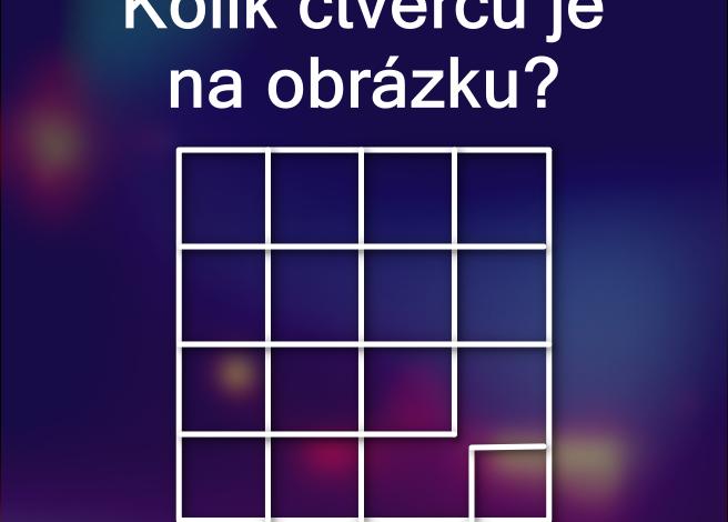 Kolik čtverců je na obrázku?