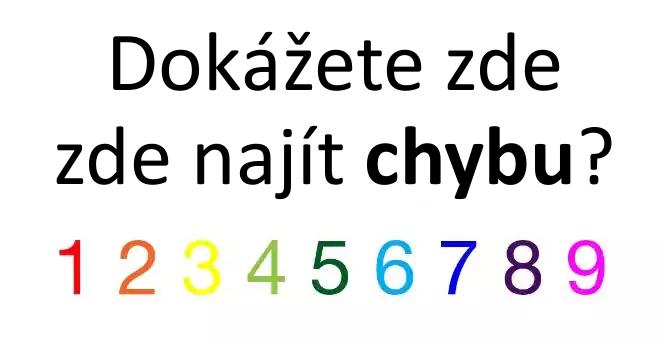 Dokážeš na obrázku najít chybu?