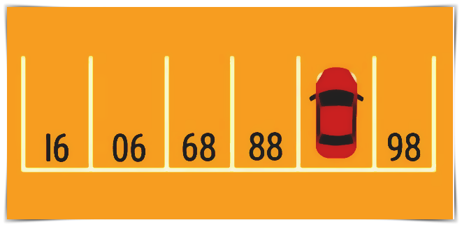 Na jakém parkovacím místě stojí auto?