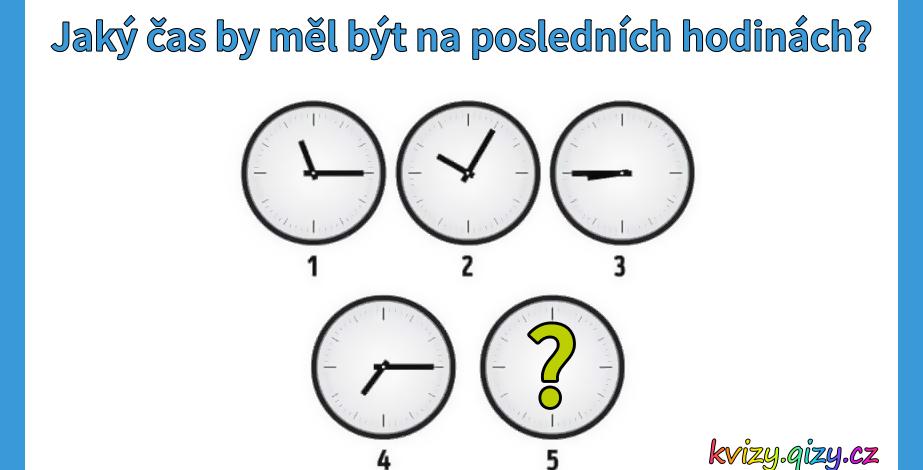 Jaký by měl být čas na posledních hodinách?
