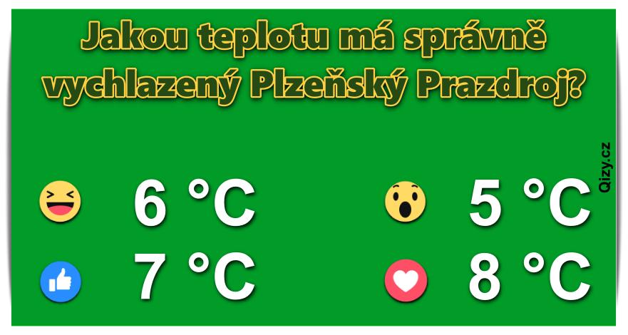 Jakou teplotu má správně vychlazený Plzeňský Prazdroj?
