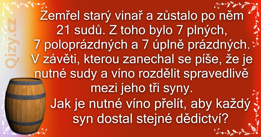 Hádanka o dědictví starého vinaře