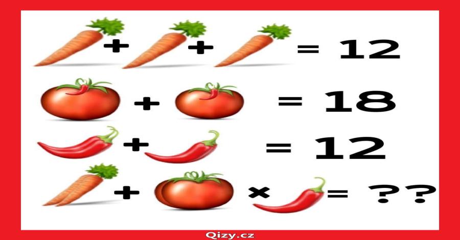 Počítání se zeleninou