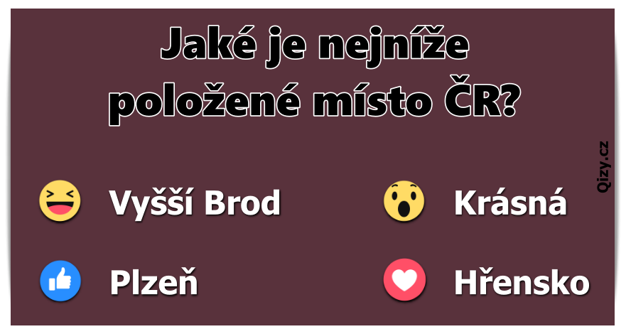 Jaké je nejníže položené místo v ČR?