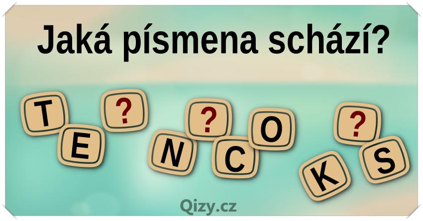 Jaká tři písmena doplníš?