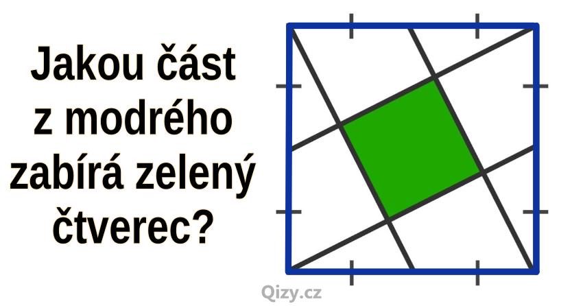 Jakou část zabírá zelený čtverec?