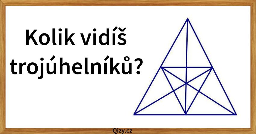 Kolik vidíš trojúhelníků?