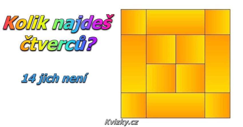 Kolik zde najdeš čtverců?