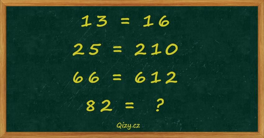 Jaké číslo doplníte místo otazníku?