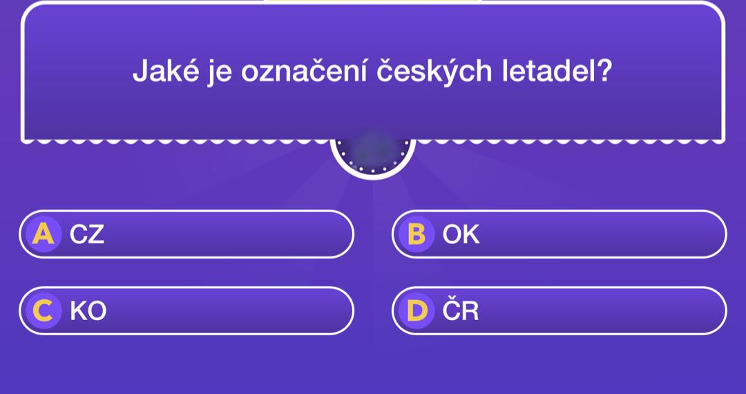Jaké je označení českých letadel?
