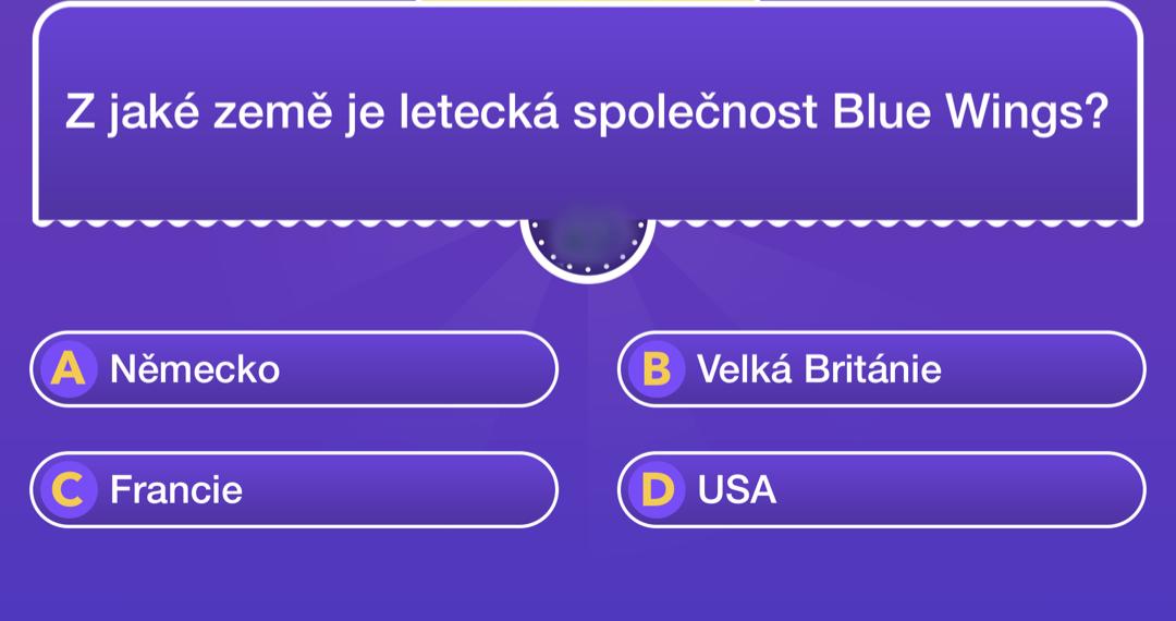 Z jaké země je letecká společnost Blue Wings?