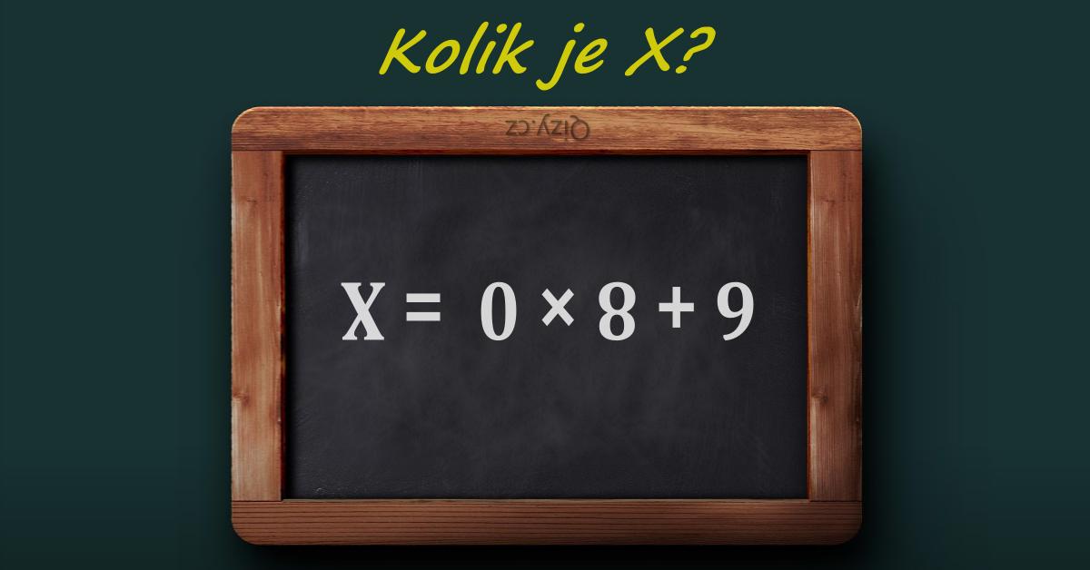Kolik Je X