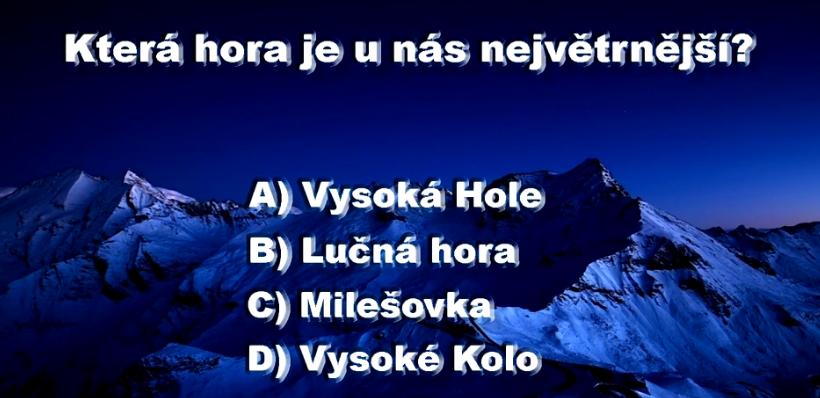 Ktera Hora Je Nejvetrnejsi