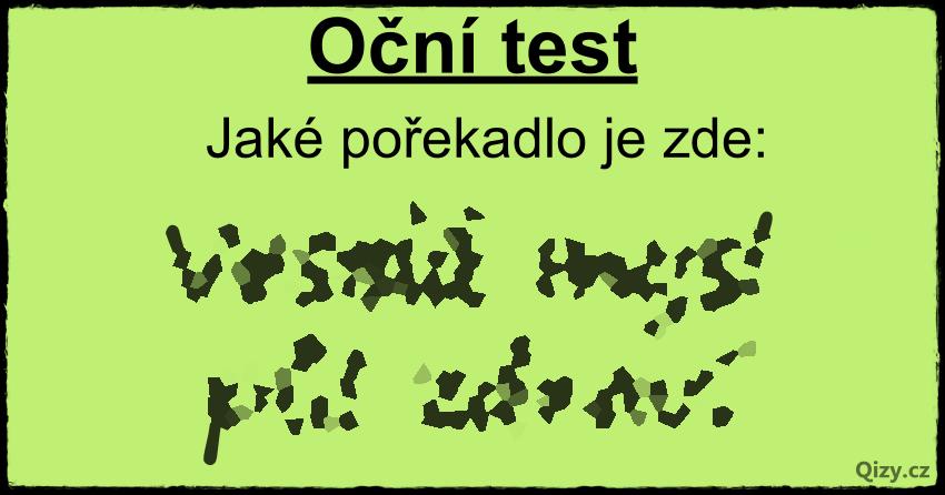 Oční Test Pořekadlo