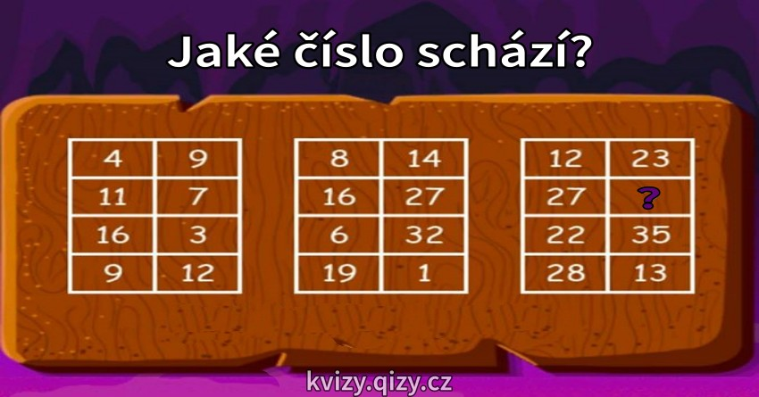 Jake Cislo Schazi K Doplneni Hadanka
