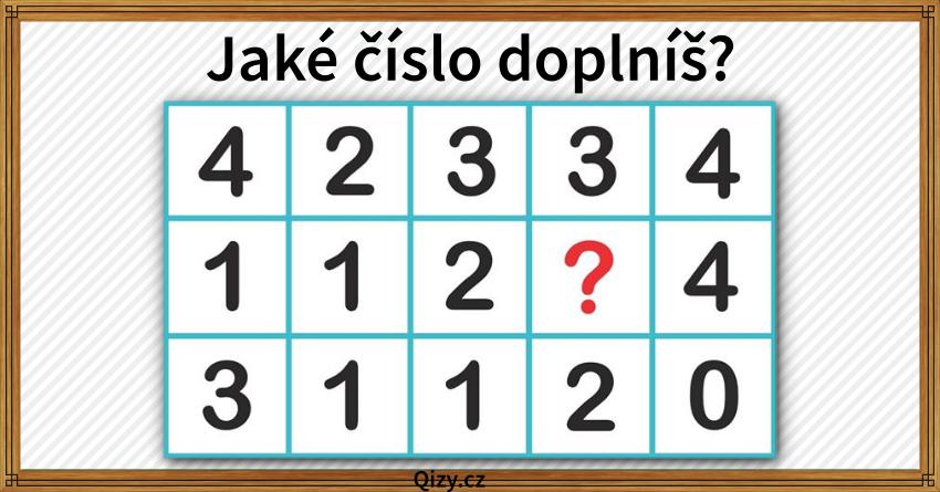Jake Cislo V Tabulce Schazi Hadanka