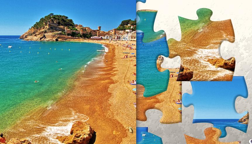 Prázdninová skládačka - puzzle