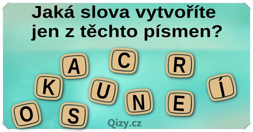 Jaka Slova Vytvorite Jen Z Techto Pismen