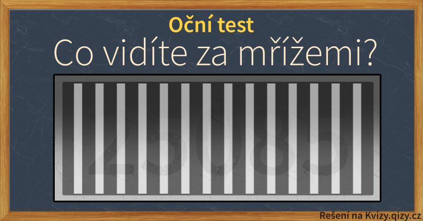 Oční Test Co Vidíte Za Mřížemi