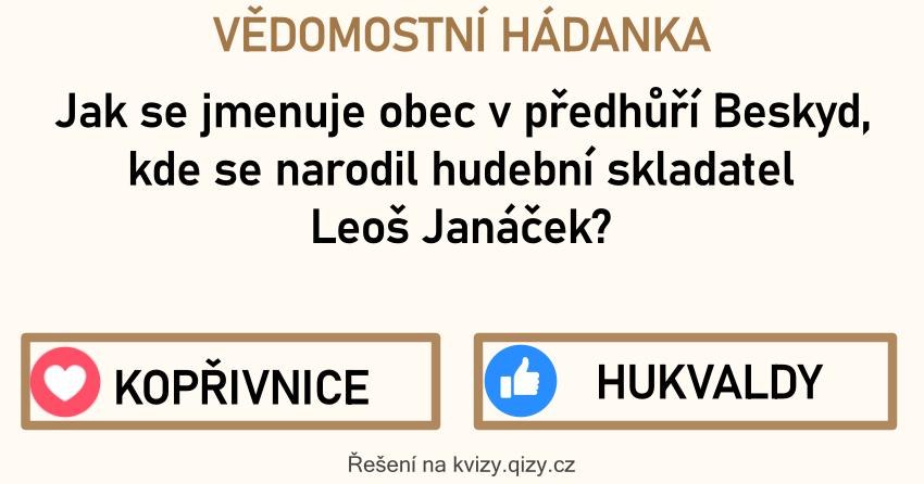 Vedomostni Hadanka Leos Janacek