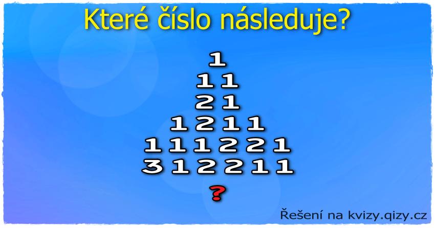 Které číslo v řadě následuje?