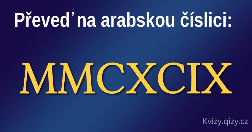 převed na arabskou číslici