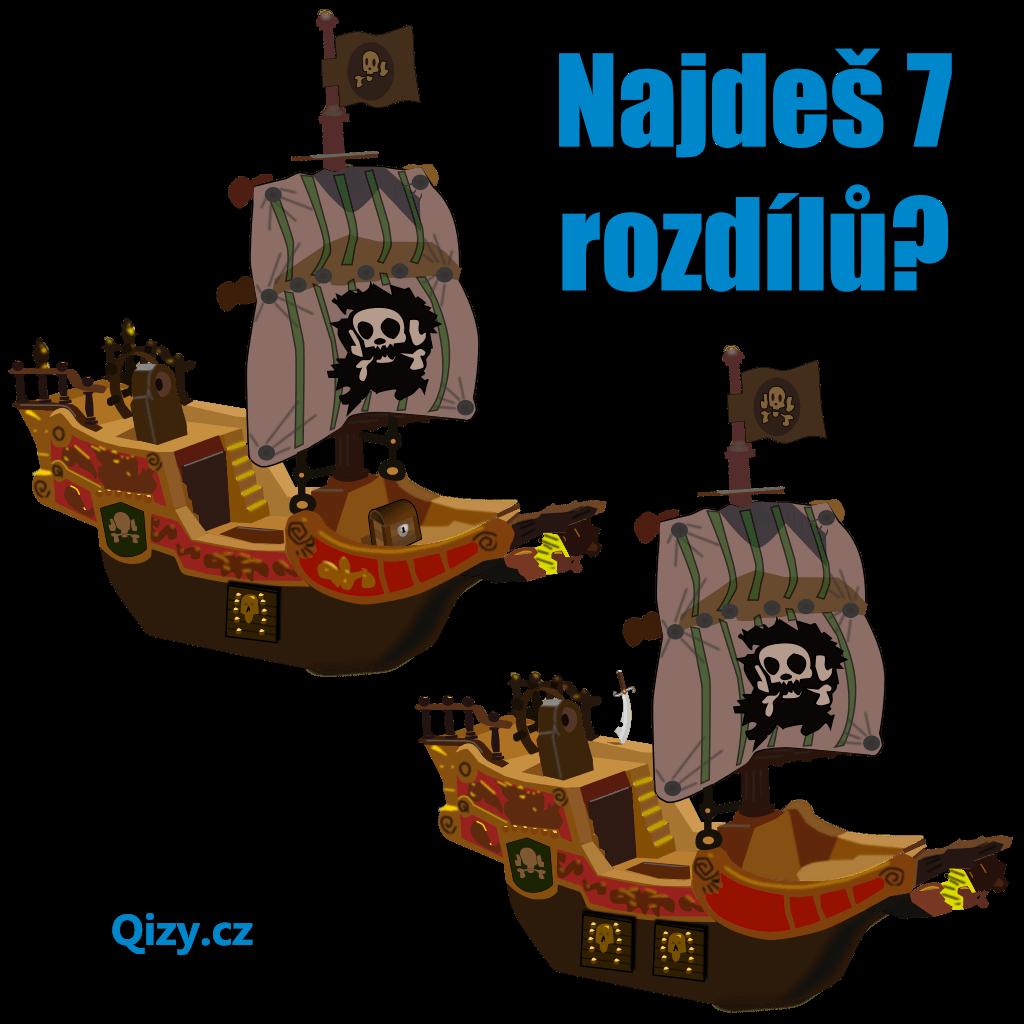 najdeš 7 rozdílů mezi loděmi