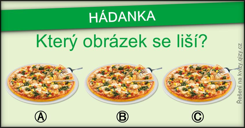hádanka který obrázek se liší pizza